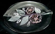 "Mikasa Crystal Original Walther Glas ""Calypso"" Oval Platter"