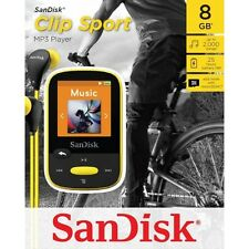 SanDisk Clip Sport 8GB MP3 Player with microSDHC slot (Yellow)