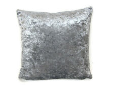 4 X Grey Velvet Cushion Covers Complete With Inners / Inserts