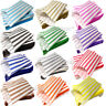 """100 Color & White Candy Stripe Paper Sweet Bags Wedding 7"""" X 9"""" Pick 'n' Mix Bag"""