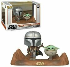 Funko Pop! Star Wars Le Mandalorian et Bébé Yoda Figurine