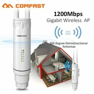 1200Mbps Power AC1200 Wireless Outdoor WIFI AP Repeater Network Range Extender