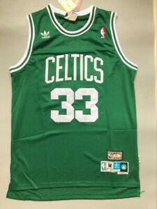 NWT Larry Bird #33 Boston Celtics Classic Throwback Jersey (Green) Size S-XXL
