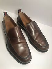 Gucci Stripe Trimmed Leather Penny Loafers Dress Shoes Mens Size 10
