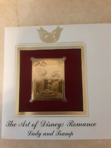 22kt Gold Replica Stamp The Art Of Disney Romance Lady And The Tramp