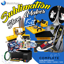 Heat Press Transfer Machine Sublimation T-Shirt/Canvas Shoes DIY Printing 6 in 1