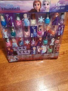 NEW! Disney Frozen 2 Nail polish Set Girl's Peelable Nail Polish Set Multicolor!