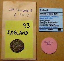 T348: Irish Edward 1st Hammered Silver Penny from the 1886 Aberdeen Hoard
