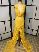 yellow dress Size:S (handmade Item)