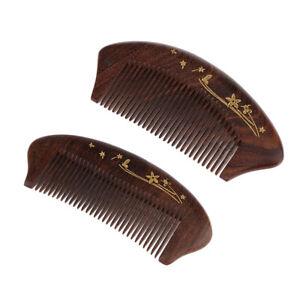 Smart-FineTooth Natural Wooden Hand Made Beard Pocket Comb Detangling Combs