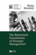 The Behavioral Foundations of Strategic Management (Theories of-ExLibrary