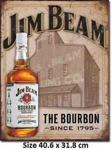 Jim Beam Still House Metal Tin Sign 1887  LICENSED made in USA