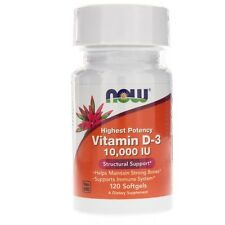 Now Foods,Vitamin D-3, 10,000iu x120 Softgels, 24Hr Dispatch, Bone Health