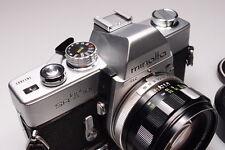 MINOLTA SRT 101 35MM VINTAGE SLR CAMERA W/ROKKOR-PF 58mm F1.4 LENS CASE/HOOD