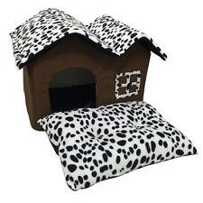Hundehütte Hundehaus Hundehöhle Katzenhütte Haustier Schlafplatz Leopard Bett DE