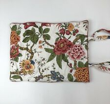 """1 Pottery Barn Floral Padded Quilted Standard Pillowcase Cover Sham 26"""" X 20"""""""