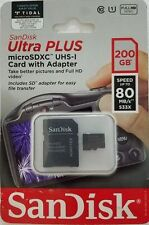 SanDisk Ultra Plus 200GB MicroSDXC UHS-1 Card w/ Adapter (SDSQUSC-200G-AWCIA)