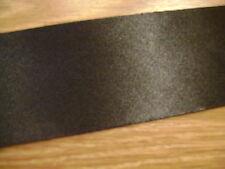 3 mètres biais noir satin d'un côté, largeur 45 mm, biais NON plié N° 421