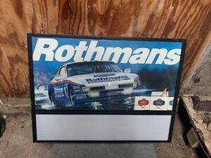 1986 porsche challenge 944  rothmans illuminated sign early 80's