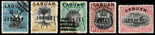 Labuan Scott 67f, 68f, 69b, 70-71 (1896) Used/Mint H F-Vf, Cv $346.35 B