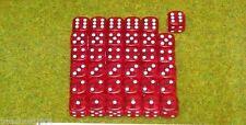 36 x 12mm RED GEM DICE For Wargames & Games Workshop