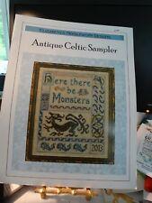 "Counted Cross Stitch ""Antique Celtic Sampler"" Elizabeth's Needlework Designs New"