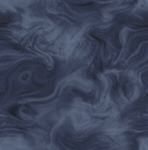 Abstract Wallpaper Pattern Marble Inspired Midnight Blue Navy and Glossy Black