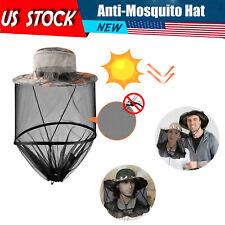 Anti Mosquito Hat Net Head Face Protector Bug Mesh Fishing Camping Sun Cap