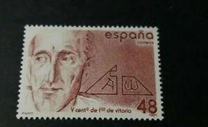 SPAIN 1987, COMPLETE SET MNH, 5th Centenary of Francisco de Vitoria. Edifil 2883