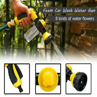 8 Modes High Pressure Cleaner Washer Gun Spray Nozzle Foam Car Cleaning Washing