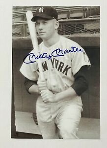 Mickey Mantle New York Yankees Signed 4x6 Photo Autographed Auto COA