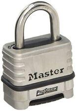 Master Lock Padlock, ProSeries® Stainless Steel Padlock, High Security Lock, Res