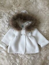 Pangasa Baby Spanish Instagram Real Fur Hooded Knit Jacket Coat 9-12M EXCELLENT!