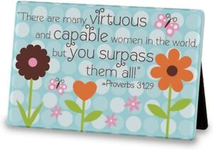 Proverbs 31 Ceramic Plaque Lighthouse Christian Products 6 x 4 Mother's Day