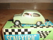 seat 600 fiat light green in box scalextric spain vintage 60s exin