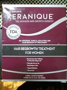 KERANIQUE HAIR REGROWTH TREATMENT for WOMEN (3 MONTHS) ***EXPIRED 9/19***  6 oz