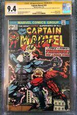 Captain Marvel 33  CGC 9.4 SSx4 -> RARE   Origin Thanos   MCU - Eternals deviant