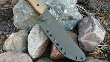 ONTARIO RAT-7 Custom kydex sheath in OD GREEN