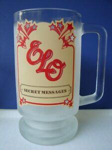 ELECTRIC LIGHT ORCHESTRA 1983 SECRET MESSAGES PROMO GLASS MUG STEIN ELO LYNNE