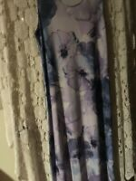 Christopher Banks Women's Dress Sleeveless Large Floral purple and blue