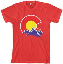 Threadrock Men's Colorado Mountain T-shirt state denver