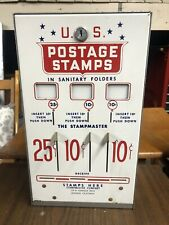 Vintage U.S. Postage Stamp Vending Machine 10, 10, & 25 Cent Slots Machine  #4