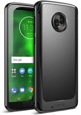 For Motorola Moto G6 Case Poetic Karbon Shield Carbon Fiber Texture Cover Black