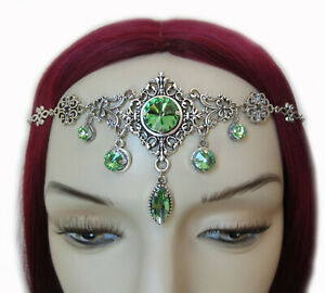 Elven Elf Celtic Gothic Medieval Headpiece Headdress Crown Circlet Renaissance