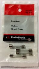 "RADIOSHACK 15A 32V 1¼X¼"" SLOW-BLOW FUSE (4-PACK) #270-0132  NEW"