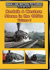 NORFOLK & WESTERN STEAM IN THE 1950'S VOL 1 MAIN LINE MOTION PICTURES NEW DVD