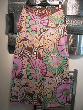 GORGEOUS OASIS MAXI SKIRT PINK FLORAL SIZE UK 10  LONG TALL  BNWOT