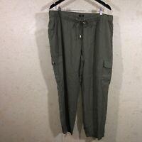 Ann Taylor LOFT Tapered Drawstring Cargo Pants Women's Size XL