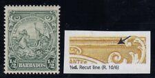 "Barbados, SG 248a, MLH ""Recut Line"" variety"