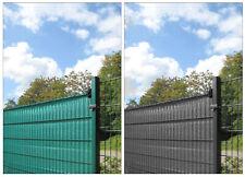 25m Sichtschutz grün & anthrazit, Sichtschutzstreifen Stabmattenzaun Folie